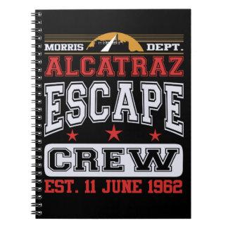 Equipo del escape de Alcatraz (Est. 11 de junio de Spiral Notebooks