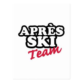 Equipo del esquí de Apres Postal