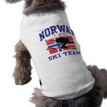 Equipo del esquí de Noruega Camisa De Perrito