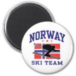 Equipo del esquí de Noruega Imanes Para Frigoríficos
