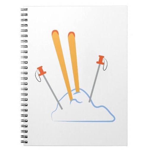 Equipo del esquí libreta