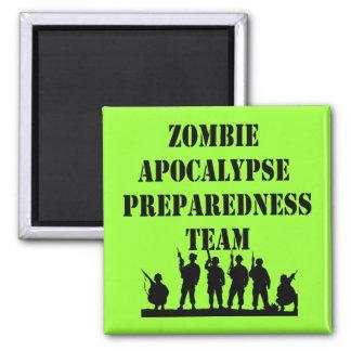 Equipo del estado de preparación de la apocalipsis imán cuadrado