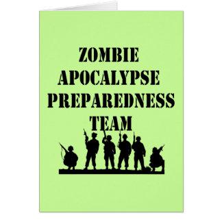 Equipo del estado de preparación de la apocalipsis tarjeta de felicitación
