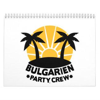 Equipo del fiesta de Bulgarien Calendario