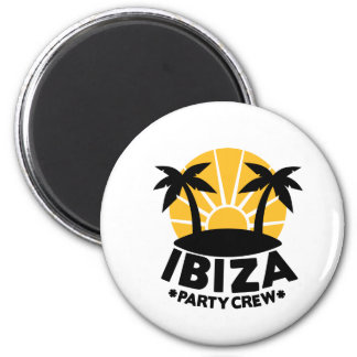Equipo del fiesta de Ibiza Imán De Nevera