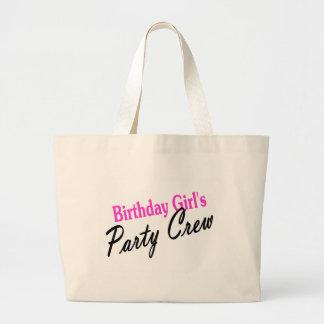 Equipo del fiesta de los chicas del cumpleaños bolsa de mano