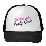 Equipo del fiesta de los chicas del cumpleaños gorro