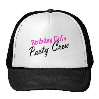 Equipo del fiesta de los chicas del cumpleaños gorro de camionero