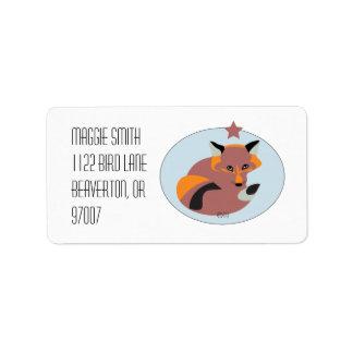 Equipo del Fox en etiqueta del círculo del cielo Etiqueta De Dirección