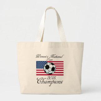 Equipo del fútbol nacional de 2015 mujeres de los bolsa tela grande