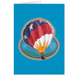 Equipo del globo del aire caliente tarjeta de felicitación
