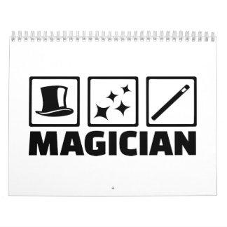 Equipo del mago calendarios de pared