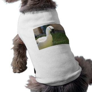 Equipo del mascota del ganso playera sin mangas para perro