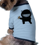 equipo del mascota del gatito del ninja camisetas mascota