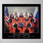 Equipo del misión en la que participa un trasborda póster