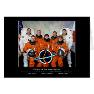 Equipo del misión en la que participa un trasborda tarjeta de felicitación