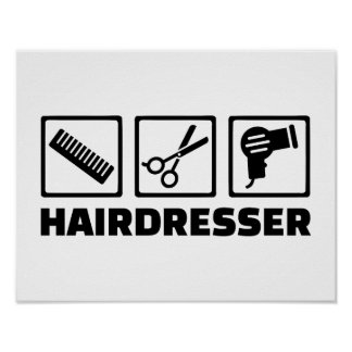 Equipo del peluquero posters