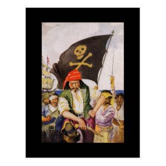 Equipo del pirata postales