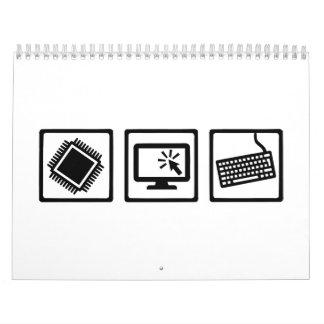 Equipo del programador calendarios de pared
