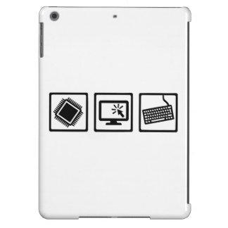 Equipo del programador funda para iPad air