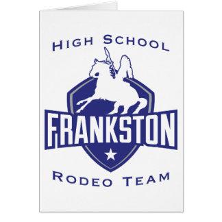 Equipo del rodeo de la High School secundaria de Tarjeta De Felicitación