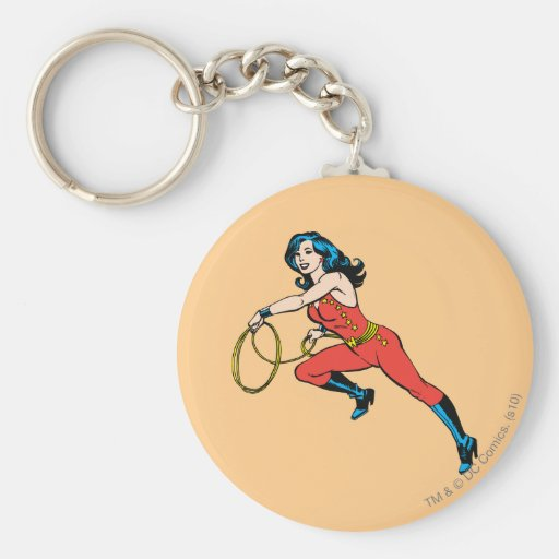 Equipo del rojo de la Mujer Maravilla Llaveros Personalizados