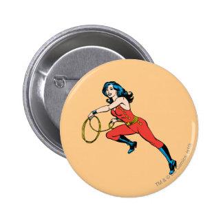 Equipo del rojo de la Mujer Maravilla Pin Redondo De 2 Pulgadas