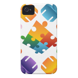 Equipo del rompecabezas carcasa para iPhone 4 de Case-Mate