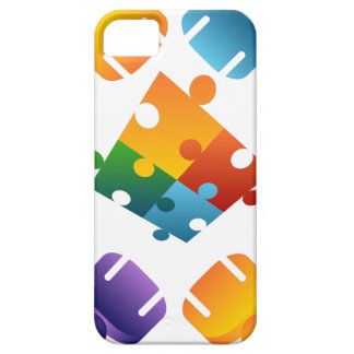 Equipo del rompecabezas funda para iPhone SE/5/5s