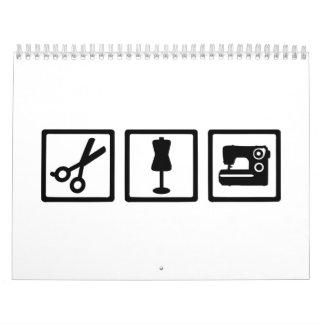 Equipo del sastre calendarios de pared