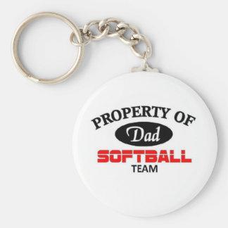 Equipo del softball de los papás llaveros