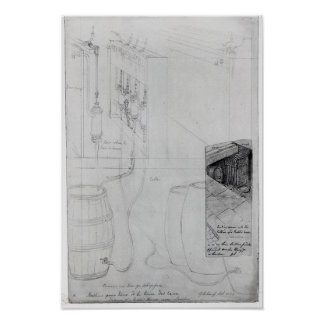 Equipo del sótano de la cerveza, 1825 poster