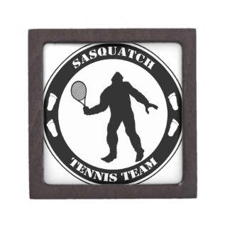 Equipo del tenis de Sasquatch Cajas De Recuerdo De Calidad