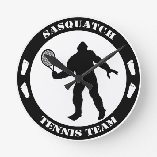 Equipo del tenis de Sasquatch Reloj