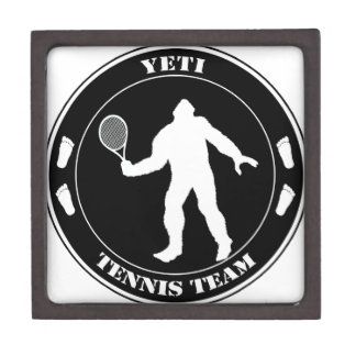 Equipo del tenis de Yeti Caja De Recuerdo De Calidad