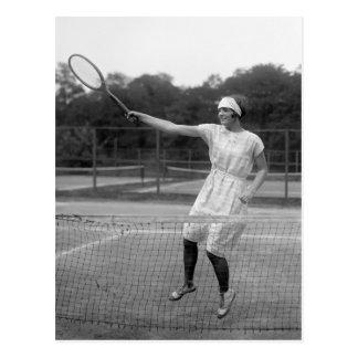 Equipo del tenis del vintage los años 20 postales