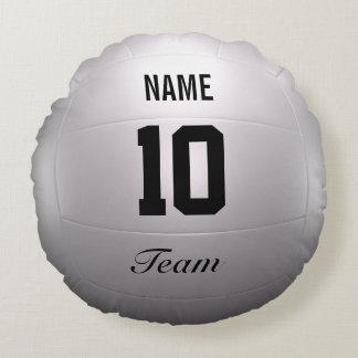 Equipo del voleibol cojín redondo