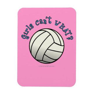 Equipo del voleibol de los chicas imán foto rectangular