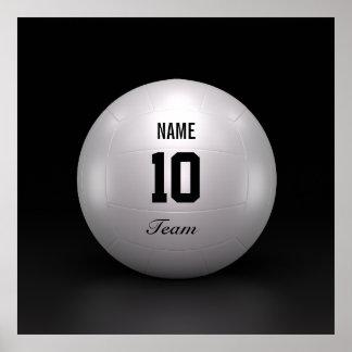 Equipo del voleibol póster