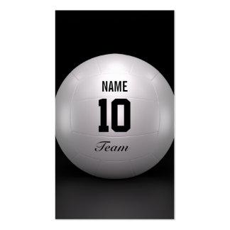 Equipo del voleibol tarjetas de visita