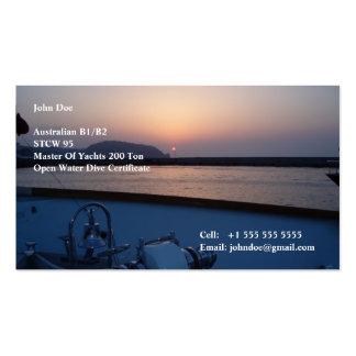 Equipo del yate tarjetas de visita