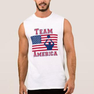 Equipo determinado América de la bandera americana Camiseta Sin Mangas