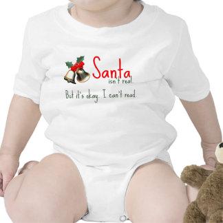 Equipo divertido de Santa del bebé Camiseta
