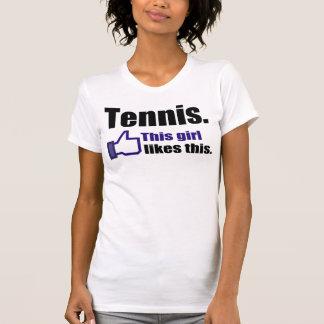 Equipo divertido del tenis poleras