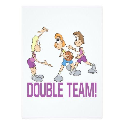 """Equipo doble invitación 5"""" x 7"""""""