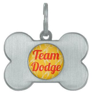 Equipo Dodge Placas De Mascota