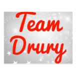 Equipo Drury Tarjeta Postal
