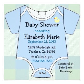 """Equipo-Ducha del bebé azul Invitación 5.25"""" X 5.25"""""""