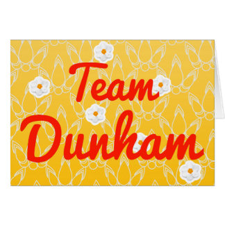 Equipo Dunham Felicitaciones