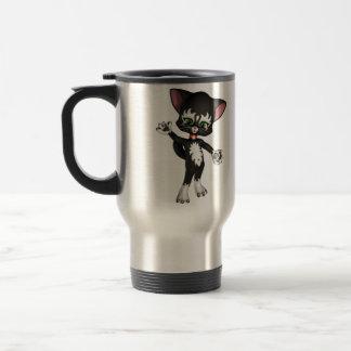 Equipo E. Cat, el gatito lindo del dibujo animado Taza De Viaje
